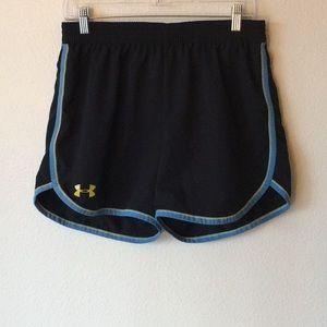 Under Armour Black & Blue Athletic Shorts